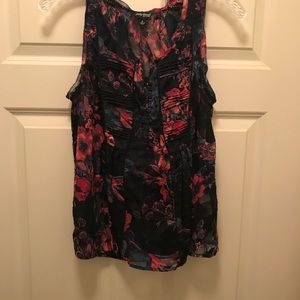 Lucky Brand Navy Floral Blouse
